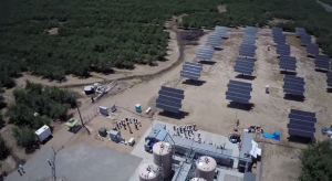 EnerVault Turlock energy storage plant overhead view