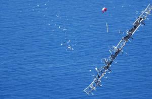 NASA Helios HP-03 prototype falling into the ocean west of Hawaii